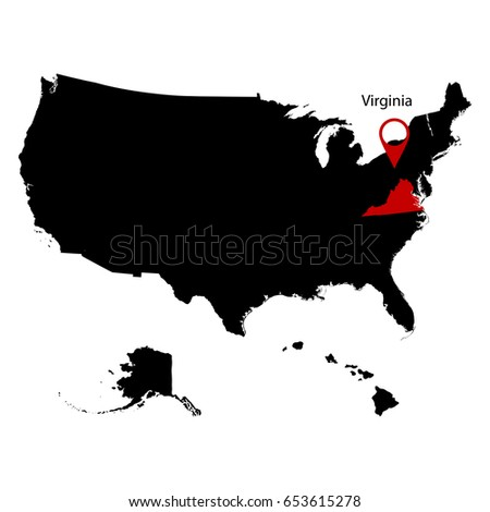 Map Us State West Virginia Stock Vector Shutterstock - Virginia on a us map