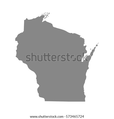 Map Us State Wisconsin Stock Vector Shutterstock - Wisconsin in us map