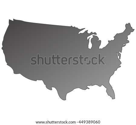 High Detailed Vector Map United States Stock Vector 150472865