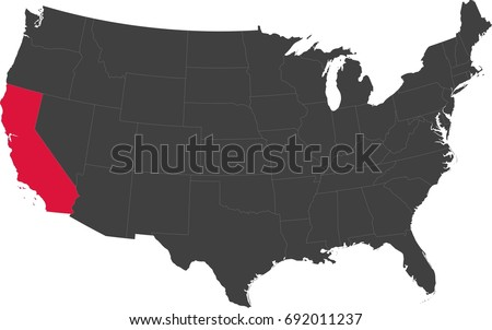 California State Stock Images RoyaltyFree Images Vectors - Us map with california highlighted