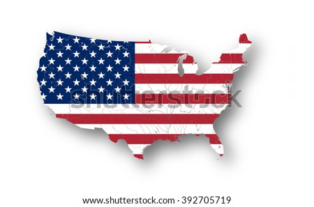 Map united states america american flag stock vector 392705719 map of the united states of america with american flag colors of flag are proper publicscrutiny Image collections
