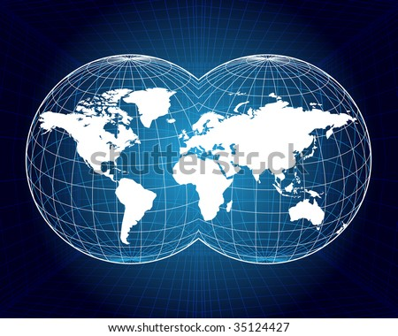 Map of the world - stock vector