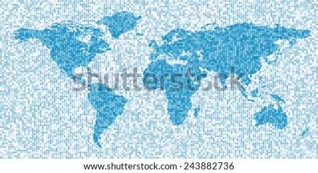 Map world blank education banner mosaic stock photo photo vector map of the world blank education banner mosaic style pixel abstract international political or gumiabroncs Image collections