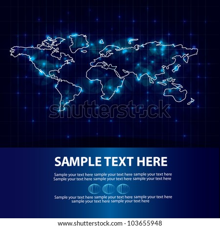 Map of the world graphic background,Vector - stock vector