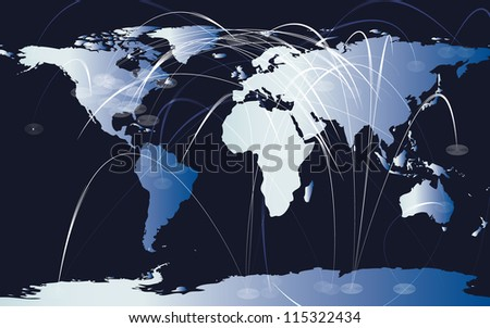 Map of the world illustration - stock vector