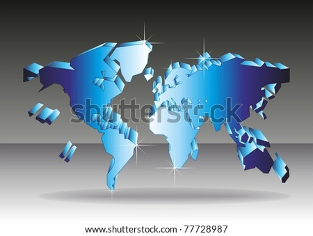 Map of the world. Vector. - stock vector