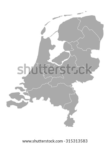 Map of thr Netherlands
