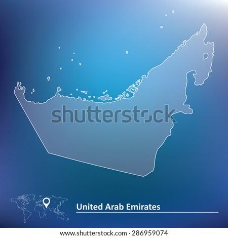 Map of United Arab Emirates - vector illustration - stock vector