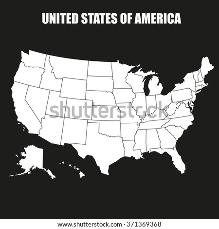 Map of United States of America - Illustration - stock vector