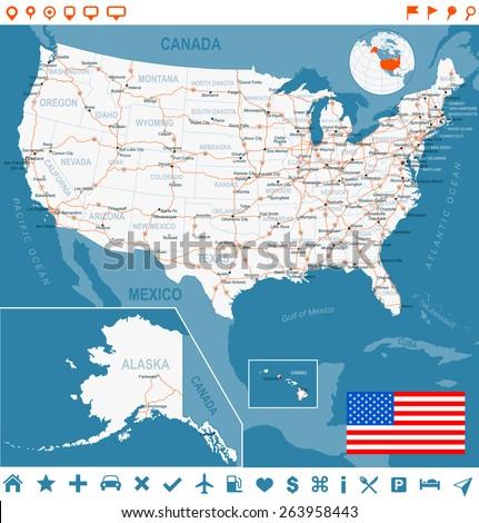 Us Road Map Stock Images RoyaltyFree Images Vectors Shutterstock