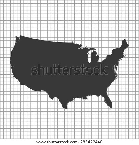 Usa Map Isolated On Transparent Background Stock Vector - Us map all white clear background