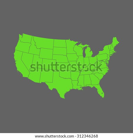 map of USA - stock vector