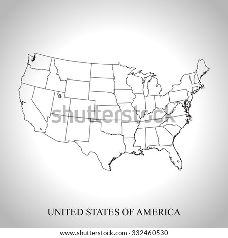 Us Map States Vector Stock Photos RoyaltyFree Images Vectors - Sketch drawing us map