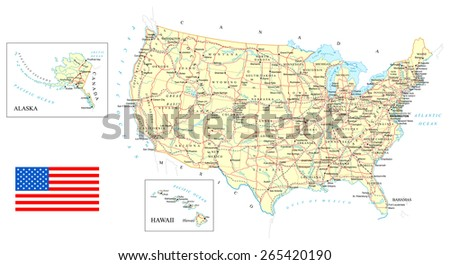 Us Road Map Stock Images RoyaltyFree Images Vectors Shutterstock - Free us road map