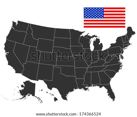 Us Map Vector Stock Images RoyaltyFree Images Vectors - Us map vector free