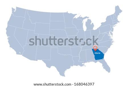 Atlanta Map Stock Images RoyaltyFree Images Vectors Shutterstock - Atlanta usa map