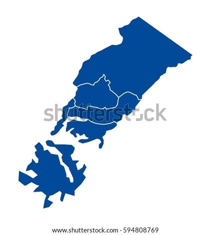 Map Vladivostok Stock Vector 594808769 Shutterstock