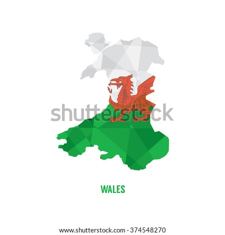 Map of Wales Vector Illustration