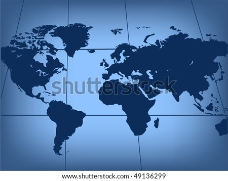 Map of world. Vector illustration - stock vector