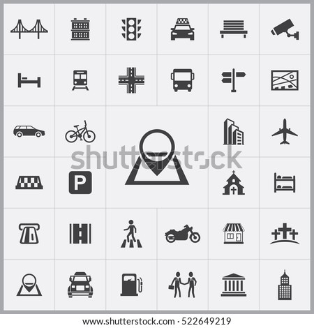 Map Pin Icon City Icons Universal Stock Vector 522649219 Shutterstock