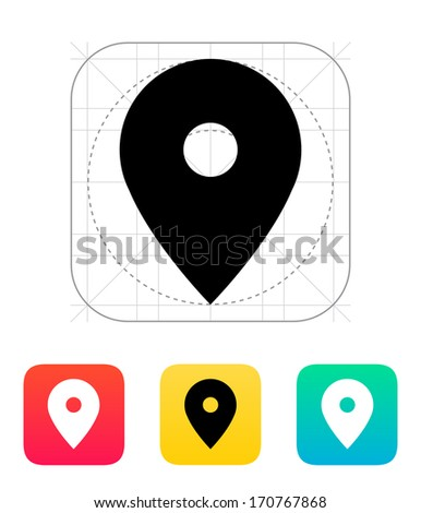 Map pin icon. Vector illustration. - stock vector
