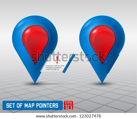Map pointer icon - stock vector