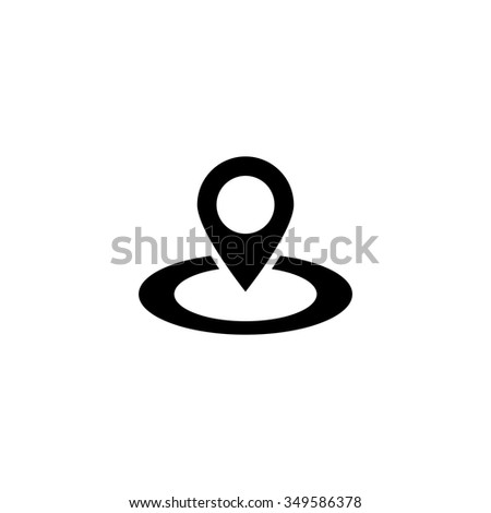 Map pointer icon. GPS location symbol. - stock vector