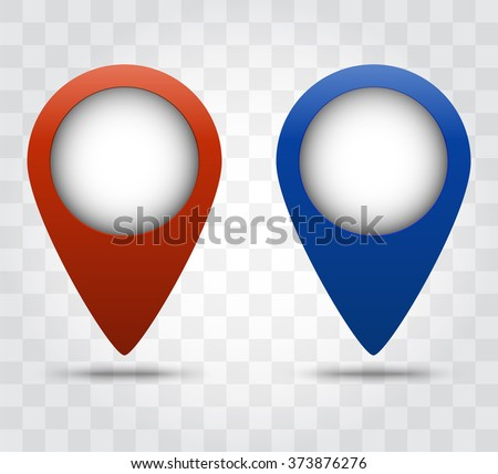 Red And Blue Color Transparent Shadow Of The Marker Vector