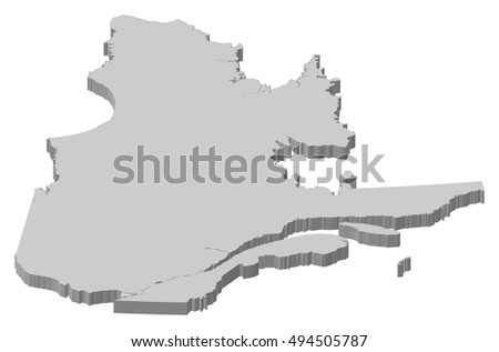 Quebec map stock images royalty free images vectors shutterstock map quebec canada 3d illustration gumiabroncs Image collections