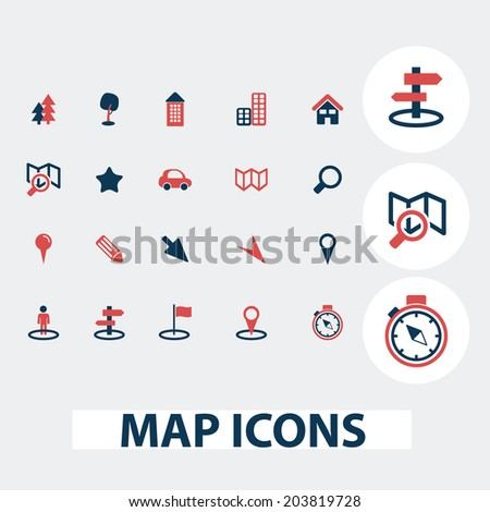 Navigation Maps Map Route Navigation Icons