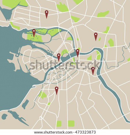 Map Russia  St.Petersburg city