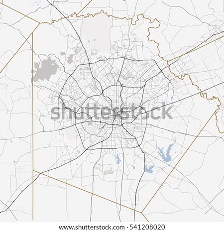 Texas Road Map Stock Images RoyaltyFree Images Vectors - Map of texas roads