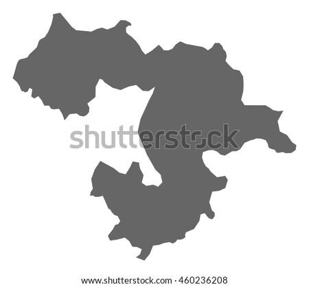 Map - Sofia Province (Bulgaria) - stock vector