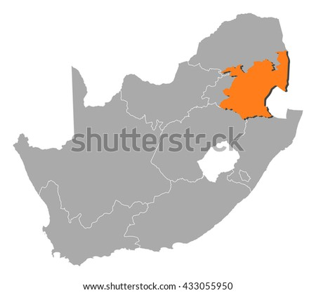 Map - South Africa, Mpumalanga