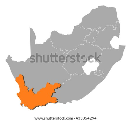 Map - South Africa, Western Cape