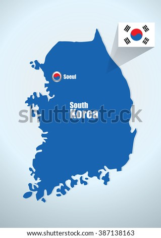 map South korea design vector illustration