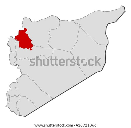 Map Syria Idlib Stock Vector 418921366 Shutterstock
