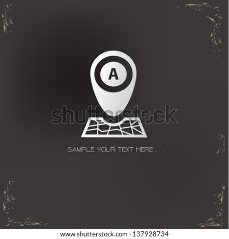 Map technology ,vector - stock vector