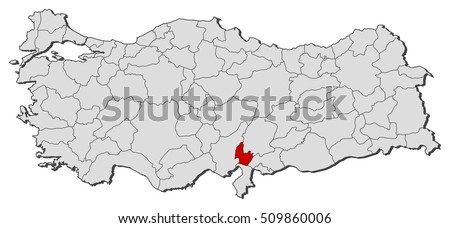 Map Turkey Osmaniye Stock Vector 509860006 Shutterstock