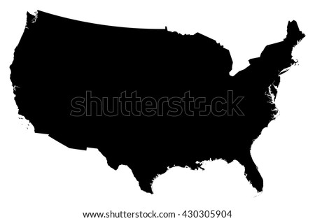 Map - United States - stock vector