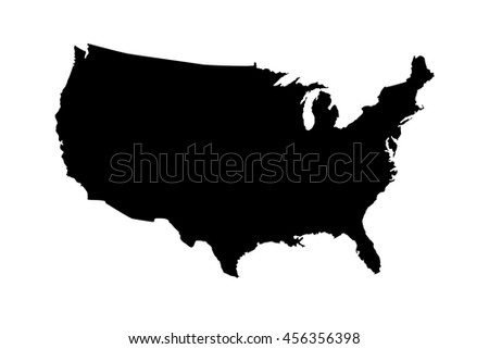 Map  United States - stock vector