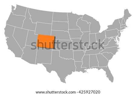 Map - United States, Colorado