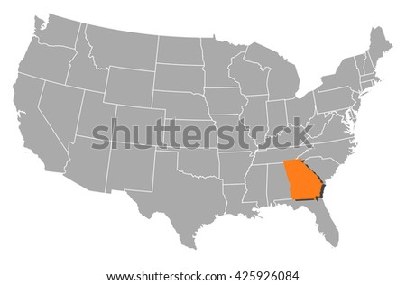 Map - United States, Georgia