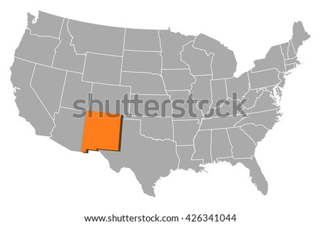 Map - United States, New Mexico