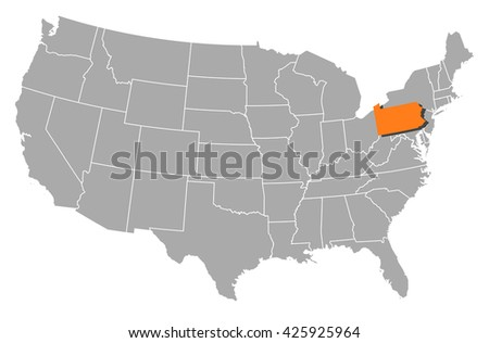 Pennsylvania map stock images royalty free images vectors map united states pennsylvania sciox Choice Image
