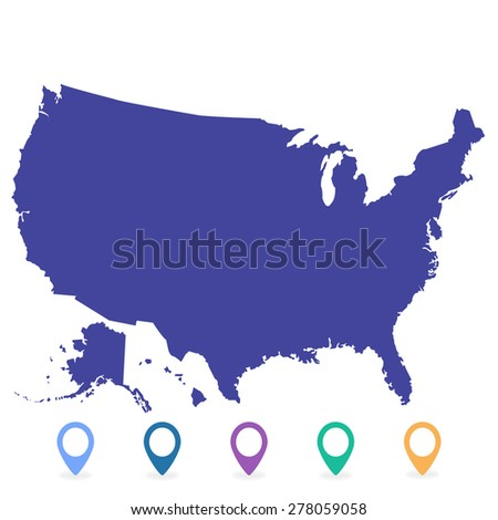 Usa map vector us map vector stock vector 278058467 shutterstock map usa sciox Images