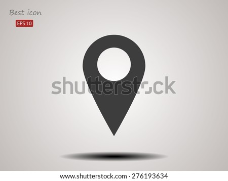 Map vector icon - stock vector
