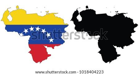 Map flag inside black outline map stock vector 1018404223 shutterstock map with the flag inside black outline map venezuela gumiabroncs Choice Image