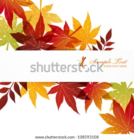 maple background - stock vector