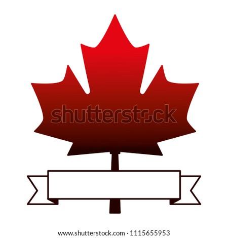 Maple Leaf Canadian Symbol Emblem Stock Vector 1115655953 Shutterstock